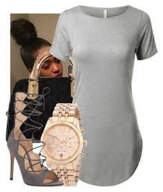 """Untitled #231"" by bbgnaja ❤ liked on Polyvore featuring Michael Kors, Gianvito Rossi, contestentry, laceupsandals and PVStyleInsiderContest"