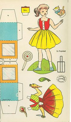 1962 Wanna See My Kitchen paper doll from Spain / tesorosdelayer.com