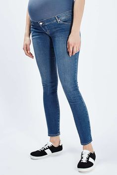 MATERNITY MOTO Over-The-Bump Leigh Jeans - Topshop