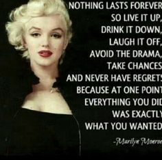 Marilyn Monroe quote be here now inspirational quote inner peace