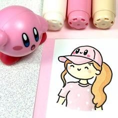 I have a new hat 😊💖 Kirby is one of my all time favorite characters 😯💨💖 Kawaii Doodles, Cute Kawaii Drawings, Cute Doodles, Copic Marker Drawings, Marker Art, Griffonnages Kawaii, Monochromatic Art, Doodle Art Drawing, Art Drawings Beautiful