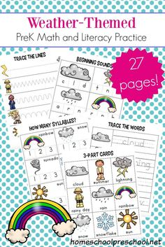 check out these free weather worksheets for preschool they will help little ones learn colors