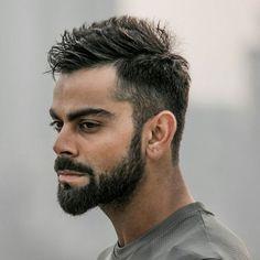 Virat Kohli Hairstyle - Men's Hairstyles & Haircuts 2019 new hair cut style virat kohli - New Hair Cut Virat Kohli Hairstyle - Men's Hairstyles & Haircuts 2019 Buzz Cut Hairstyles, Famous Hairstyles, Cool Hairstyles For Men, Slick Hairstyles, Haircuts For Men, Glasses Hairstyles, Girl Hairstyles, Virat Kohli Beard, New Hair Cut Style