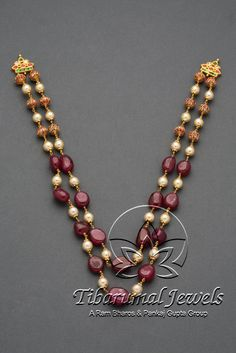 Resultado de imagen de black and white beaded necklace Ruby Jewelry, India Jewelry, Temple Jewellery, Stone Jewelry, Beaded Jewelry, Jewelry Necklaces, Beaded Necklace, Layered Necklace, Gold Jewellery