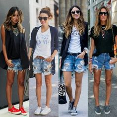 47 Ideas Short Boats Outfit Casual Summer For 2019 Bermuda Shorts Outfit, Summer Shorts Outfits, Casual Summer Outfits, Chic Outfits, Spring Outfits, Fashion Outfits, Look Short Jeans, Jean Short Outfits, Look Con Short