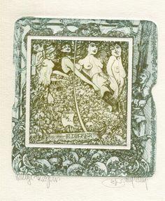 erotic exlibris Pavel Hlavaty for Decker Hommage a Bayros Online Price, Erotic, Vintage World Maps, Ebay