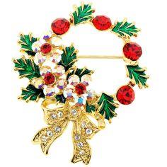 Christmas Wreath Corsage Brooch