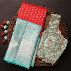 Bridal Silk Saree, Saree Wedding, Kanjivaram Sarees Silk, Silk Saree Blouse Designs, Blouse Patterns, Wedding Saree Collection, Traditional Silk Saree, Sari Design, Saree Trends