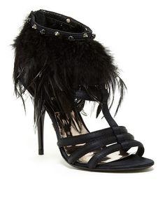 Black Ciera Leather Sandal by A.B.S. by Allen Schwartz #zulily #zulilyfinds