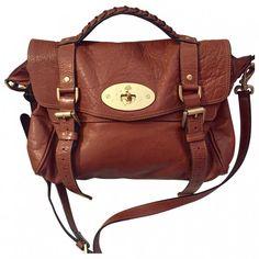 Camel Leather Handbag Alexa MULBERRY ❤ liked on Polyvore