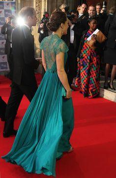 Kate Middleton in Turquoise Dress (back)