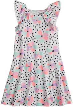Featuring a lovely flutter design, this girls' Jumping Beans dress offers an exhilarating look. Little Boy And Girl, Boy Or Girl, Jumping Beans, Toddler Girl Outfits, Ruffle Trim, Tween, Baby Dress, Kids Girls, Look