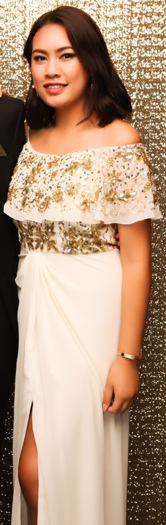 Auckland Girls Grammar Ball 2015. White and gold, love this classic combo! www.whitedoor.co.nz