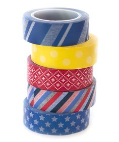 Look at this Primary Passion Washi Tape - Set of Five on #zulily today!
