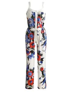 Joules Womens Pjs, Creme Bouquet.                     If lounging around whilst looking good and sleeping in style is your thing, then you may have just met the onesie for you. Crafted in soft cotton and complete with a truly unique print.
