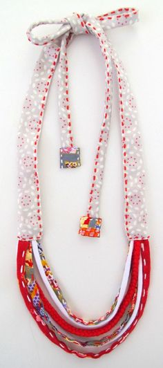 Adjustable fabric necklace - kid friendly