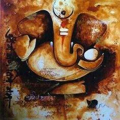 Ganesh Shiva Art, Ganesha Art, Krishna Art, Sri Ganesh, Hindu Art, Lord Ganesha Paintings, Ganesh Wallpaper, Beautiful Paintings, Simple Paintings