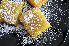 Lemon Bars with Olive Oil and Sea Salt by bitesoutoflife. Recipe by Melissa Clark, nytimes #Bars #Lemon_Bars #Olive_Oil #Sea_Salt