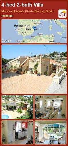4-bed 2-bath Villa in Moraira, Alicante (Costa Blanca), Spain ►€399,000 #PropertyForSaleInSpain