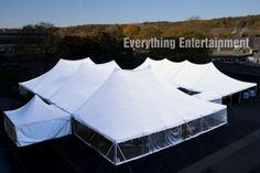 60x120, 40x100, 20x20, and multiple connecting tents for a ground breaking ceremony in Westchester