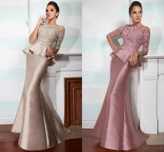 Mother Of Bride/Groom Dresses Half Long Sleeves Lace Beads Peplum Mermaid Formal Wear Evening Party Gowns Designer Mother Of The Bride Fall Mother Of The Bride Dresses From Wanyuweddingdress, $105.53| Dhgate.Com