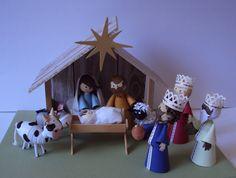 Nativity Scene / Presépio by Natilde http://natiquill.blogspot.com