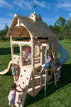 Play is beautiful. and so is Serendipity 419 Wooden Swing Set and Outdoor Playset from CedarWorks Playhouse Outdoor, Outdoor Playset, Playhouses For Sale, Outdoor Swing Sets, Swing And Slide, Commercial Street, Wooden Swings, Jungle Gym, Backyard For Kids