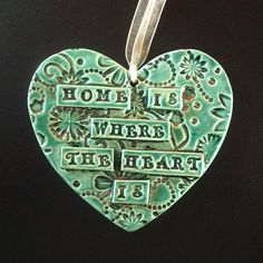 Large ceramic heart decoration £6.00