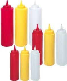 Sticle Dozatoare Sosuri, Mustar, Ketchup, Maioneza, din Plastic