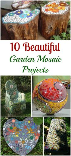 These DIY garden mosaic projects are both practical and beautiful, and have complete tutorials.