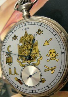Elgin pocket watch, Masonic dial designs