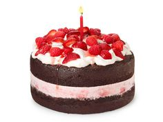 Birthday cake of the month for June from #FNMag: Berry Ice Cream Cake
