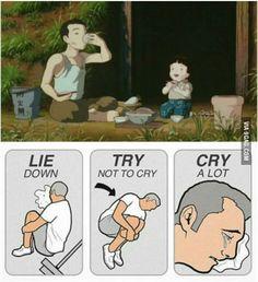 "Grave of the fireflies... one of Studio Ghibli's saddest movies. ""Why do fireflies die so soon?"""
