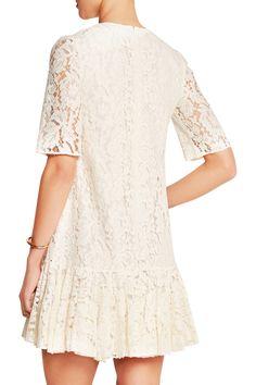 Needle & Thread   Ruffled lace dress   NET-A-PORTER.COM