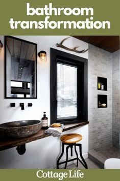 You have to see this total bathroom transformation. Inspire your next bathroom remodel with these ideas #homedesign #bathroomideas #bathroomdecor #bathroomremodel #homeimprovement #CottageLife Bathroom Floor Coverings, Cottage Design, House Design, Baseboard Radiator, Next Bathroom, Unique Home Decor, Diy Design, Countertops, Home Improvement