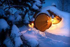 Hobbits Home in winter