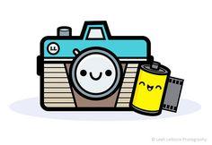 Kawaii Camera Logo by Jerrod Maruyama 365 Kawaii, Kawaii Chibi, Kawaii Art, Camera Logo, Camera Art, Digital Camera, Kawaii Drawings, Cute Drawings, Instagram Kawaii
