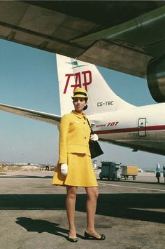 Uniforme da TAP nos anos 70. // TAP uniform in the 70's.