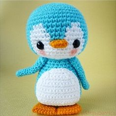 Found at Amigurumipatterns.net  How cute is this little guy.  think my son would love him in black and white.