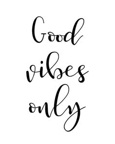 Printable Wall Art Quote Good Vibes Only by PaperMoonPrintArt  #quote #printable #wallart #poster #digitalprint #instantdownload #inspirational #motivational