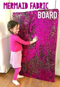 Giant Mermaid Fabric Sensory Board- Homegrown Friends – Little Lunacy – art therapy activities Sensory Wall, Sensory Tools, Sensory Boards, Sensory Bins, Diy Sensory Toys, Sensory Play Autism, Baby Sensory Play, Sensory Activities For Preschoolers, Preschool Activities