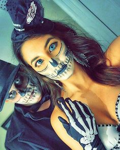 Skeleton Makeup and Costume Idea for Couples