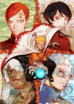 Tags: Fanart, NARUTO, Uzumaki Naruto, Gaara, Pixiv, Choujuurou, Darui, Kurotsuchi, PNG Conversion, Fanart From Pixiv, Noeunjung93