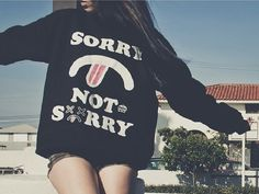 Sorry not sorry Psycho rebel clothing Grunge Fashion, Cute Fashion, Urban Fashion, Teen Fashion, Pretty Outfits, Cool Outfits, School Fashion, Types Of Fashion Styles