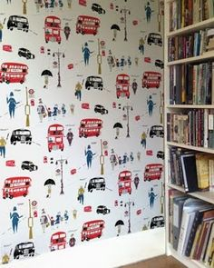 okay. i usually HATE wallpaper. but I kind of like stuff like this. FOR ONE accent wall only though