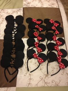 Minnie and Mickie mouse ears for children's birthday party.