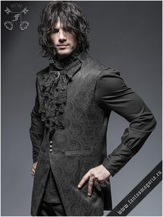 Black laces Gothic jabot - Vampire, Victorian, Gothic Aristocrat fashion accessory. Also suitable for Ladies. To attach it to the clothing - use safety
