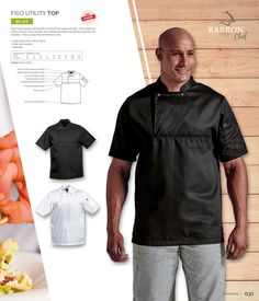 Short sleeve jacket with double breasted front panel and yoke. This jacket has a thermometer sleeve pocket, bar-tacking and single top-stitched armhole and shoulder. This is a basic that all kitchens need. Double Breasted, Catering, Chef Jackets, Cotton Fabric, Kitchens, Short Sleeves, Men Casual, Bar, Pocket