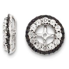 Sterling Silver Diamond & Black Sapphire Earring Jacket – Goldia.com