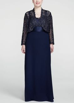 Long Sleeve Metallic Lace Jacket Dress | eBay